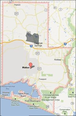 Walton County FL Map