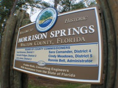 Welcome sign to Morrison Springs Park